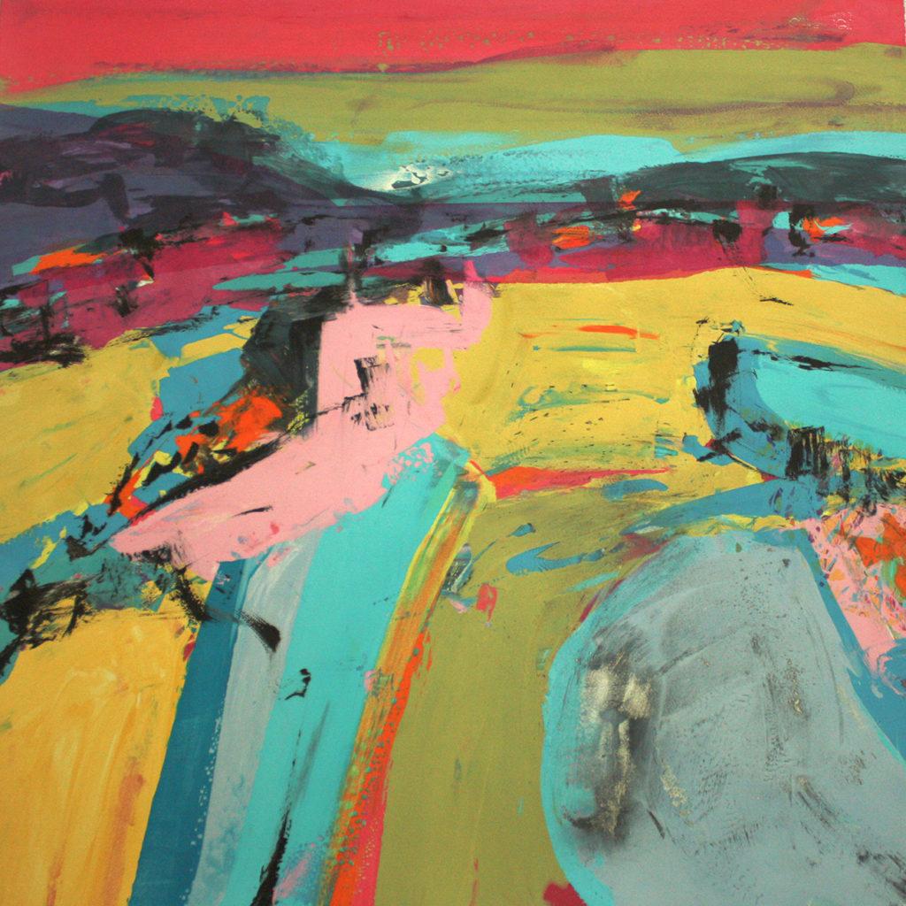 Aljezur Silkscreen Painting Gail Mason