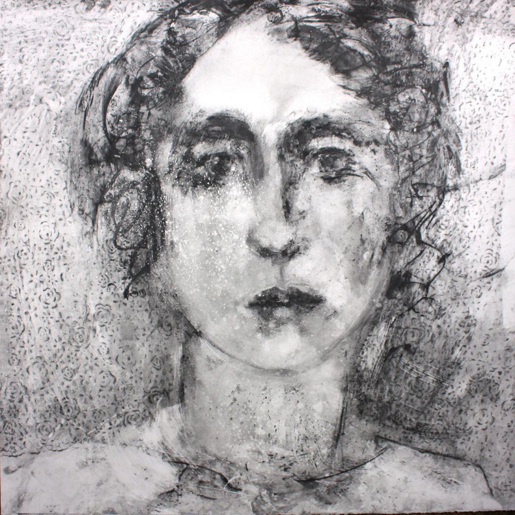 Beatrice Silkscreen Monotype Gail Mason