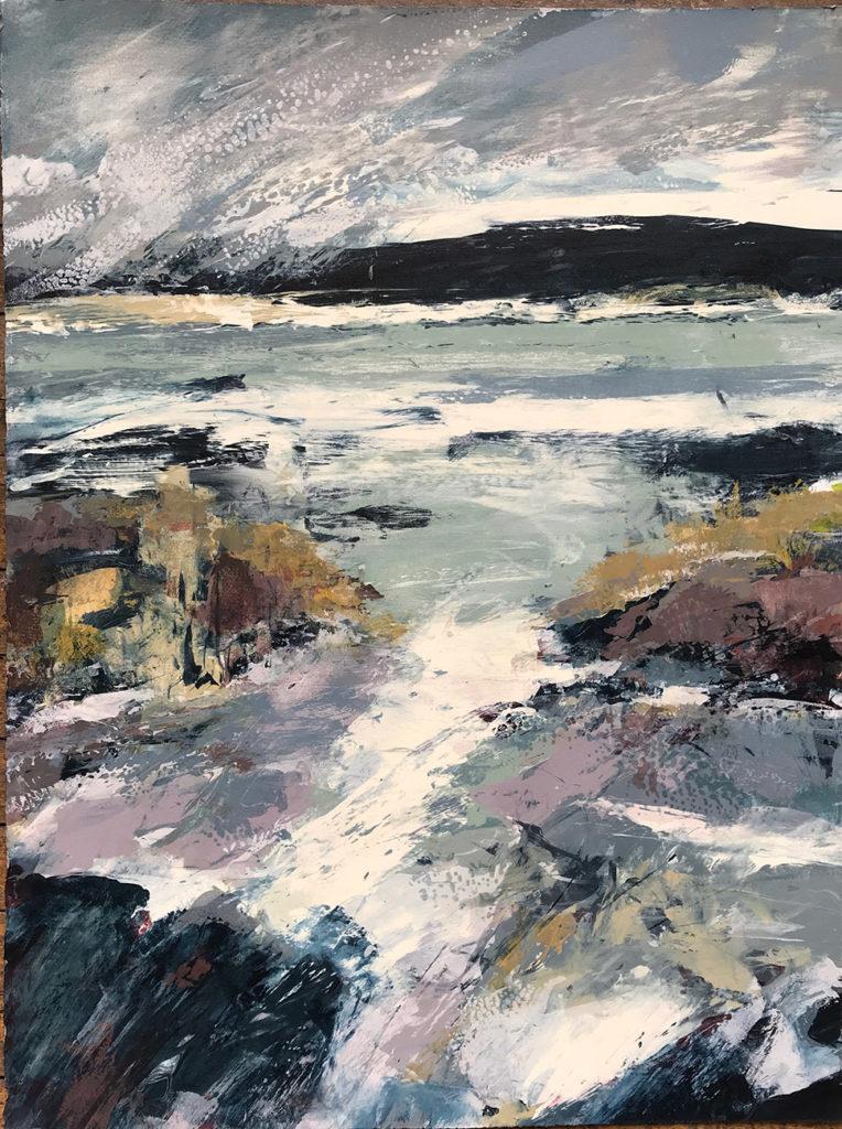 Ebb And Flow ii Silkscreen Painting Gail Mason