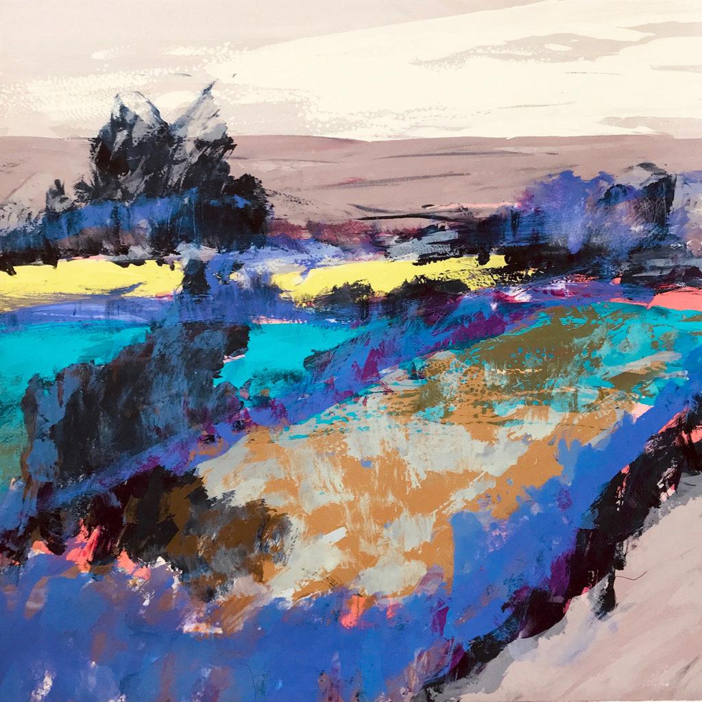 Garden Silkscreen Painting Gail Mason