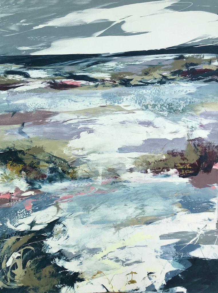 Light Dance Silkscreen Painting Gail Mason