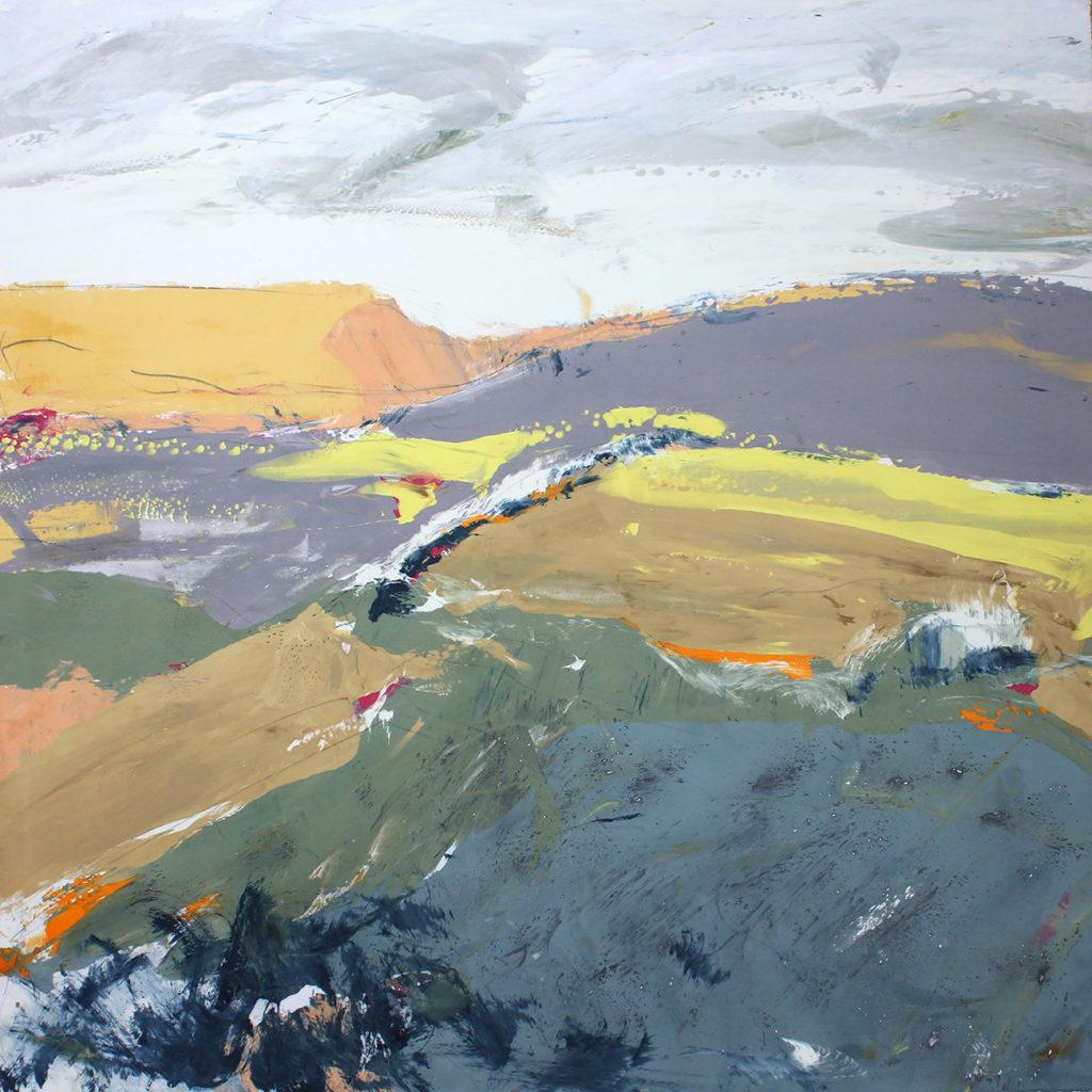 Moor Silkscreen Painting Gail Mason