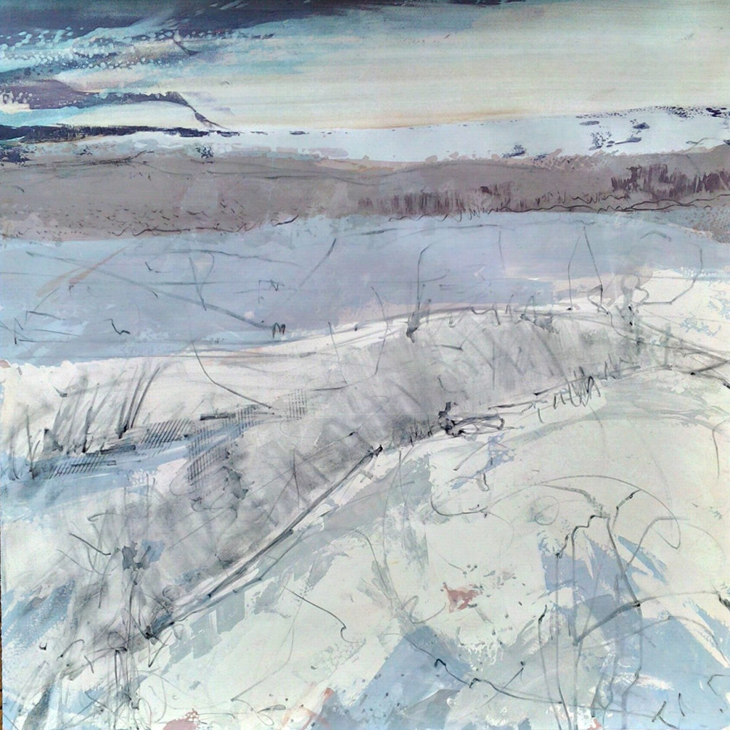 Pond Ice Silkscreen Painting Gail Mason