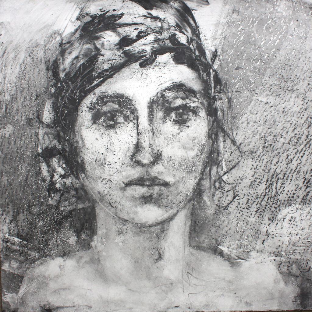 Rosalie Silkscreen Monotype Gail Mason