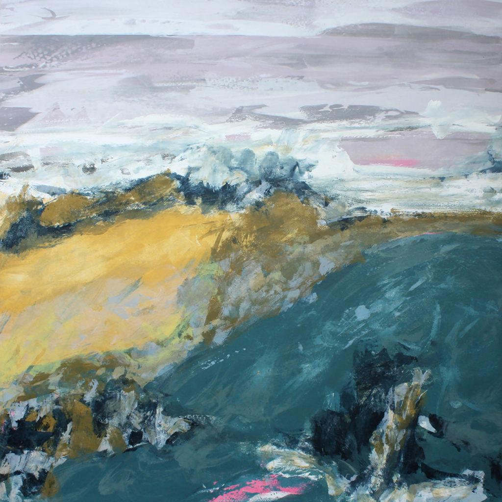 Gust i Silkscreen Painting Gail Mason