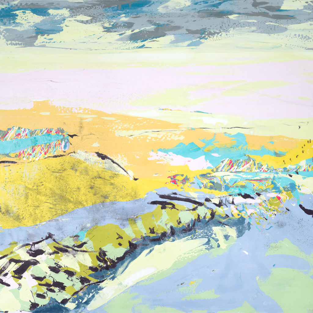 Sea Walk Silkscreen Painting Gail Mason