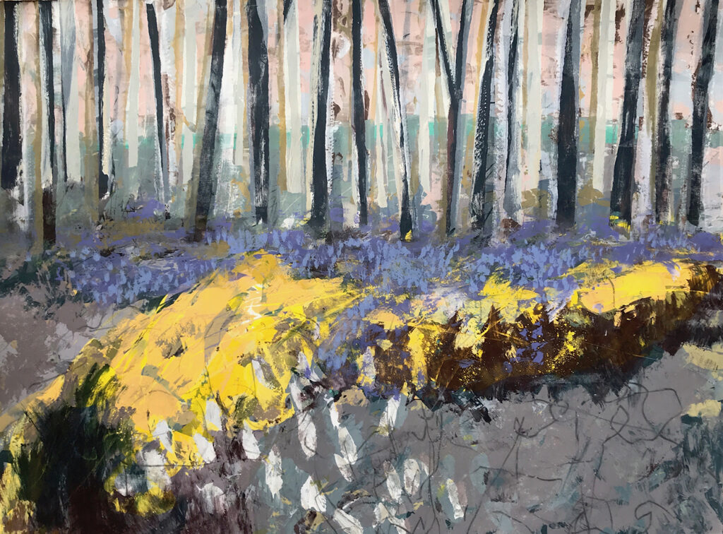 Blue Bell Woods Silkscreen Painting Gail Mason