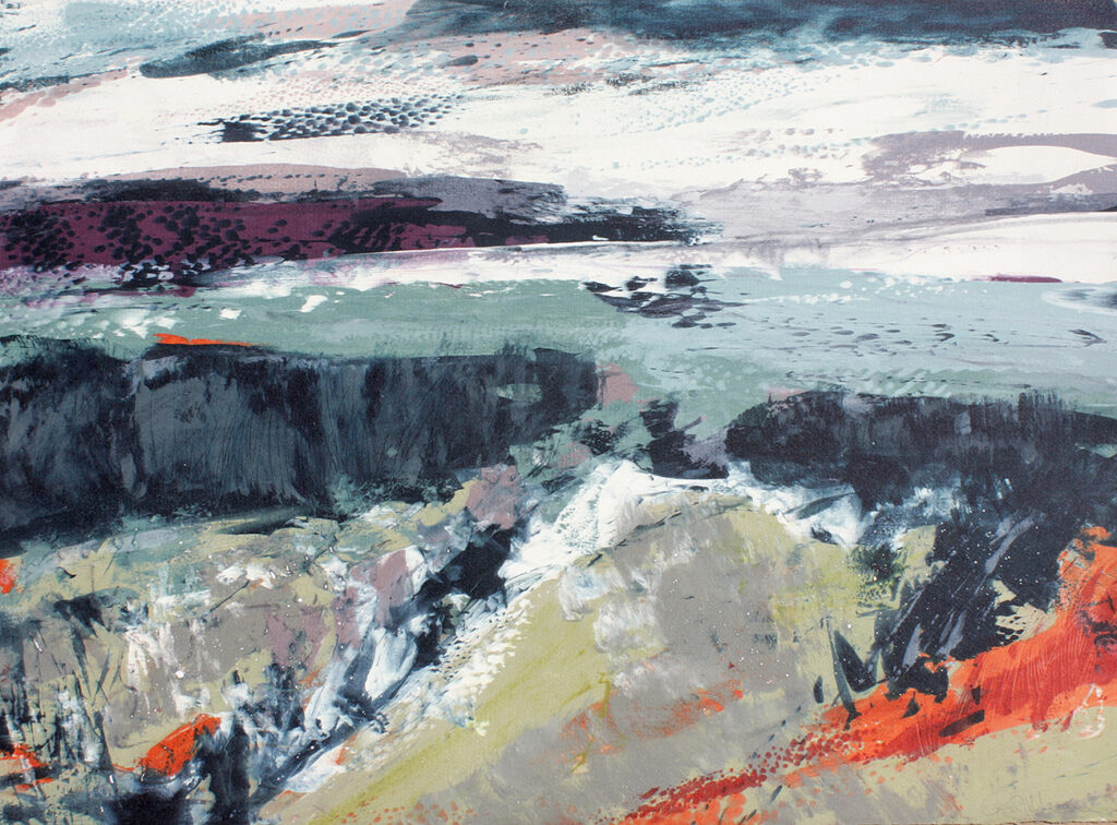 Bluster Silkscreen Painting Gail Mason
