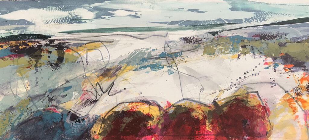 Boulder Silkscreen Painting Gail Mason
