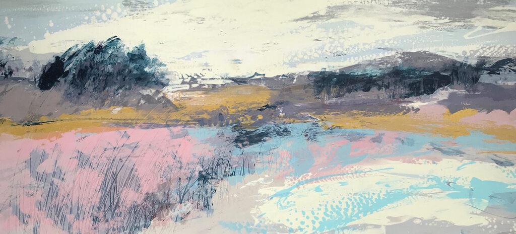 Drift Silkscreen Painting Gail Mason