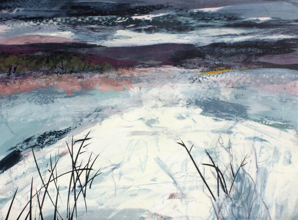 Gentle Thaw iiiSilkscreen Painting Gail Mason
