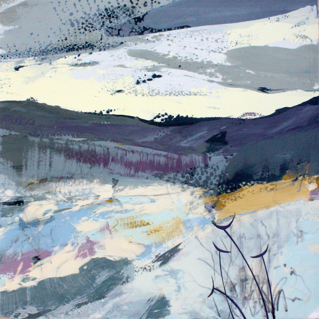 Gentle Thaw Silkscreen Painting Gail Mason