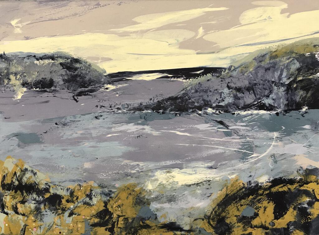 Gorse Silkscreen Painting Gail Mason
