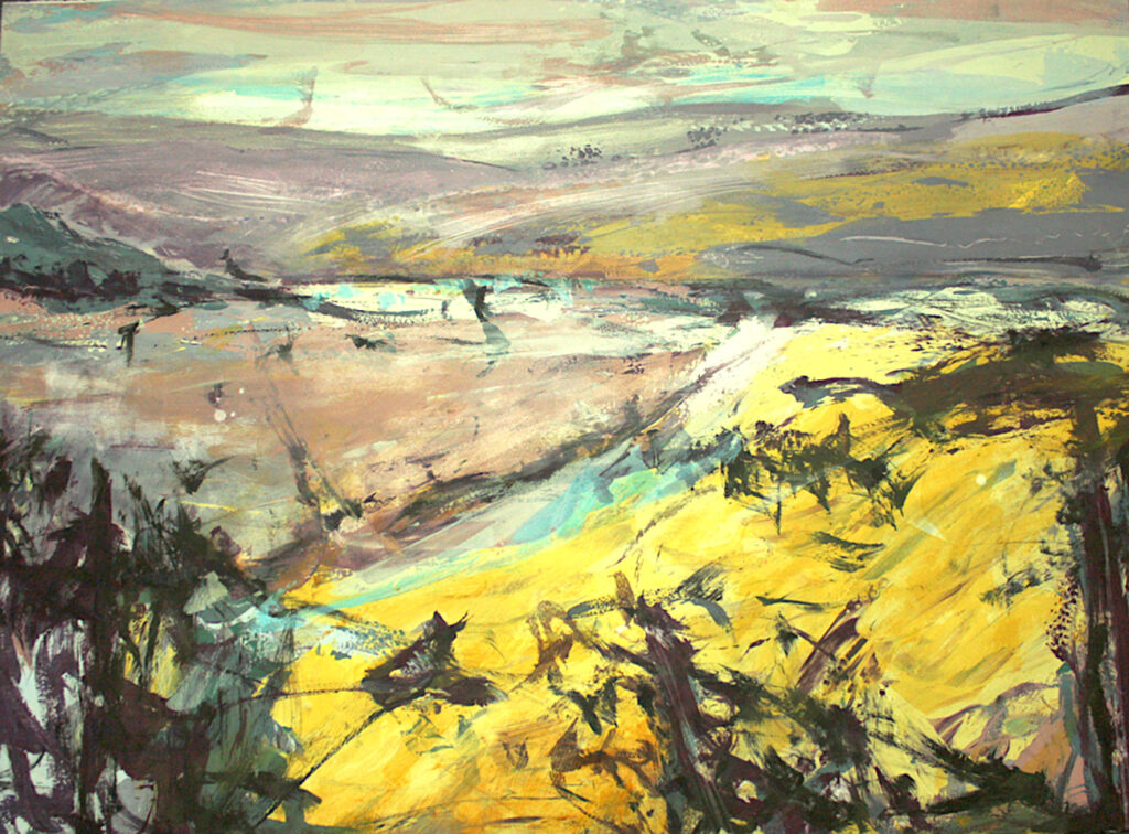 Highlands ii Silkscreen Painting Gail Mason