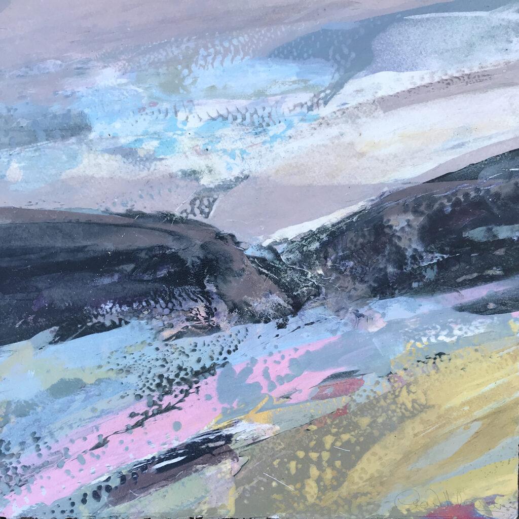 Trail Silkscreen Painting Gail Mason