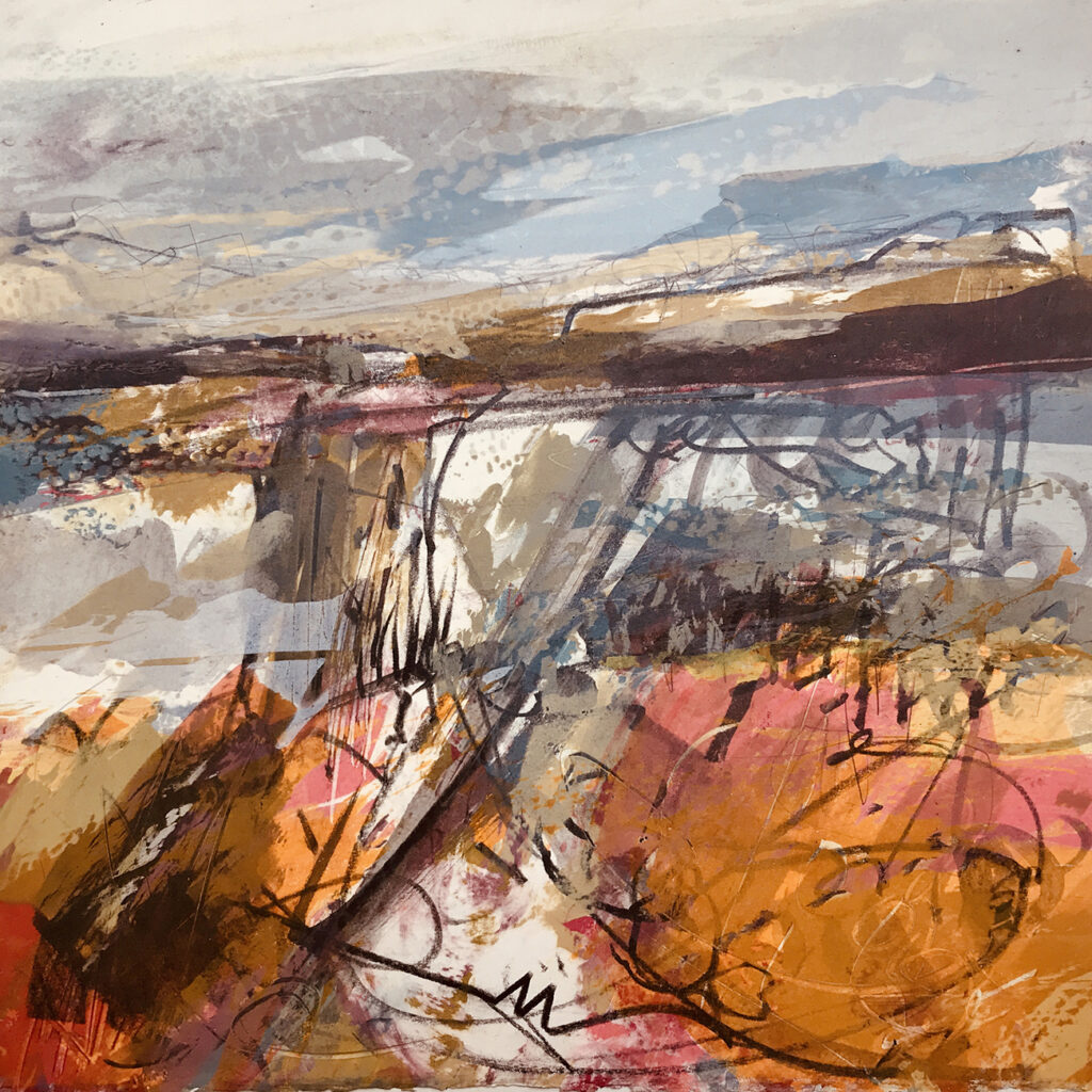 Land Series Silkscreen Painting Gail Mason