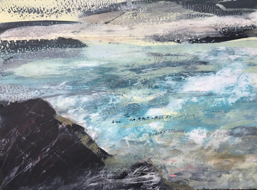 Mizzle Silkscreen Painting Gail Mason