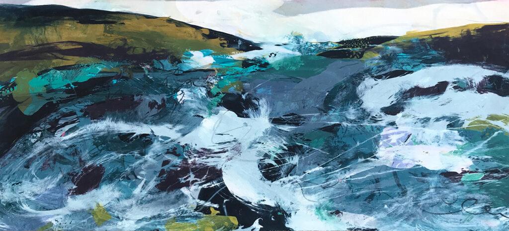 Rhythm Silkscreen Painting Gail Mason