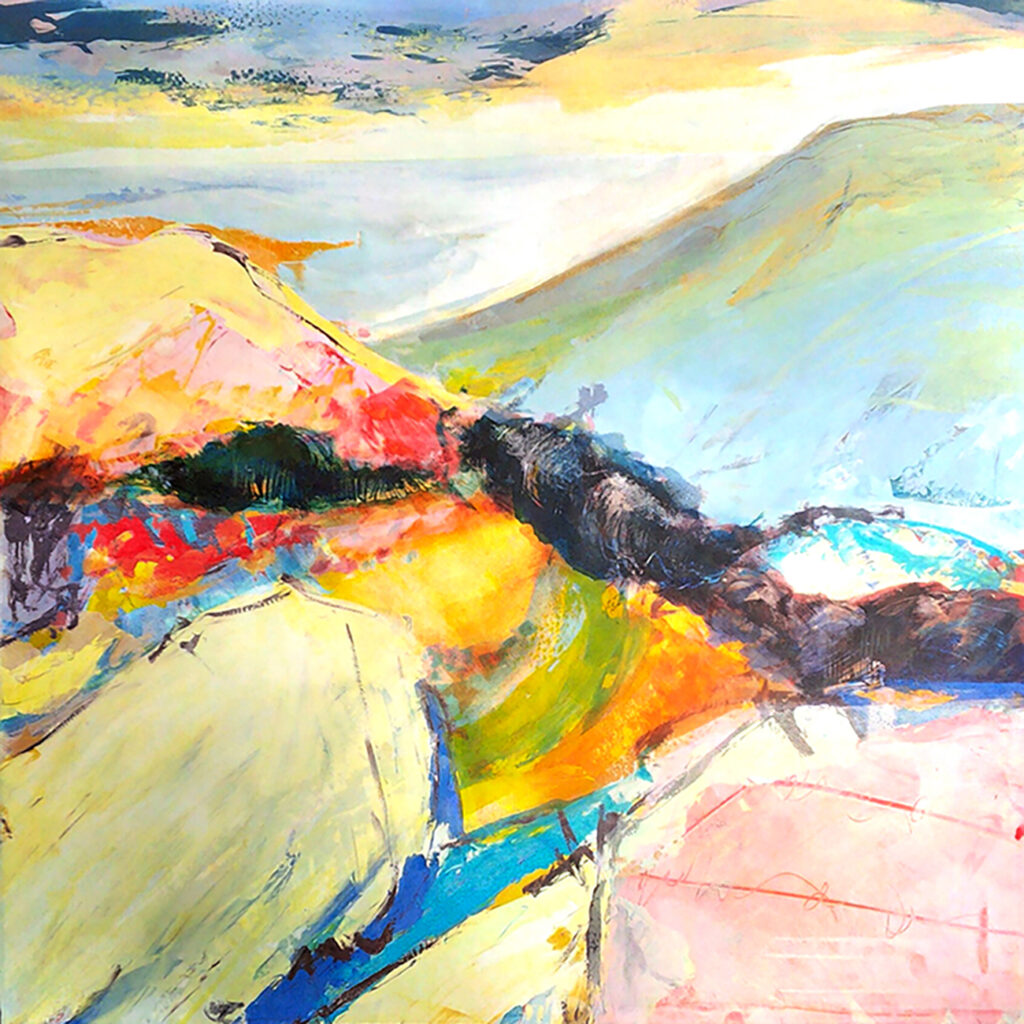 Secret Valley Silkscreen Painting Gail Mason