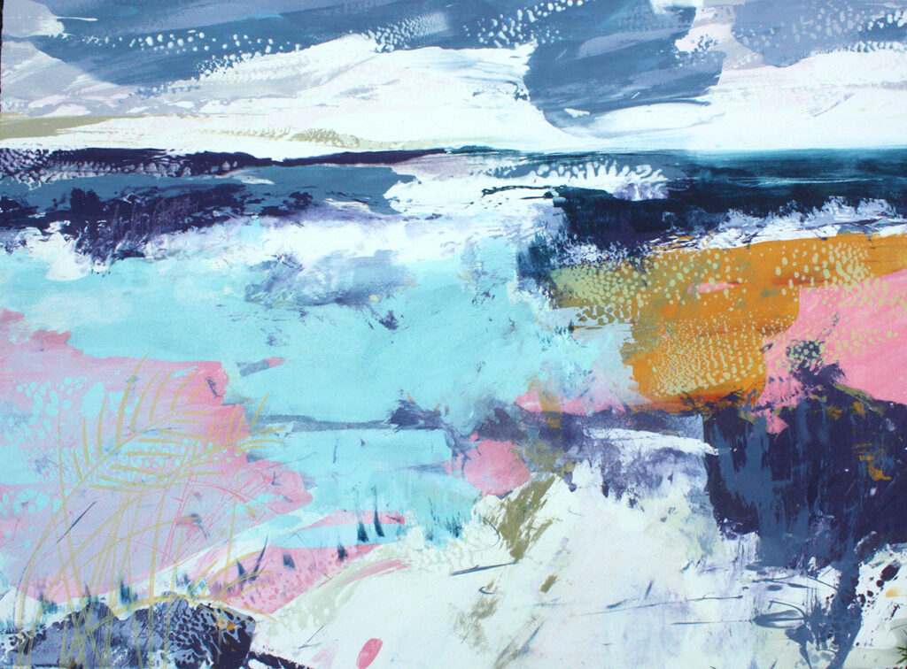 Beautiful Day Silkscreen Painting Gail Mason