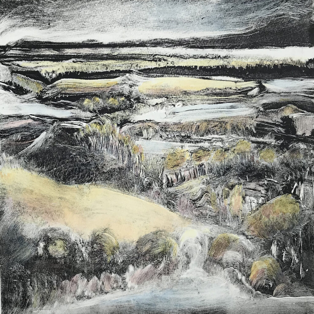 Long View Oil Monotype Gail Mason