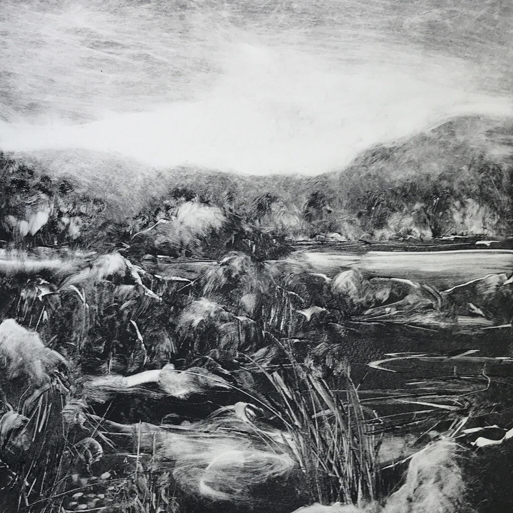 Ripple oil monotype Gail Mason
