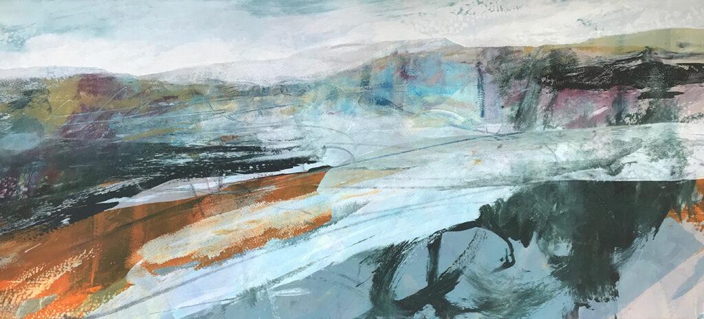 Gail Mason Squall silkscreen painting