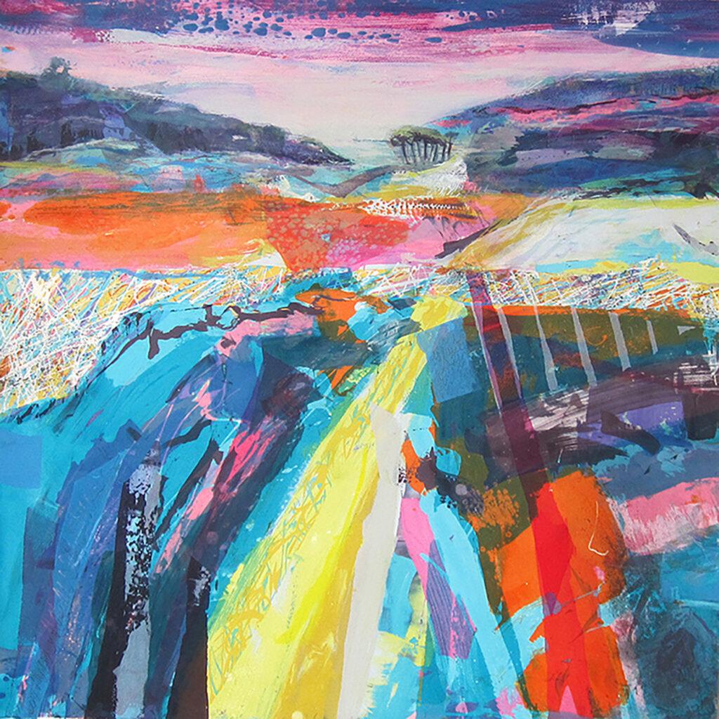 Copse Silkscreen Painting Gail Mason