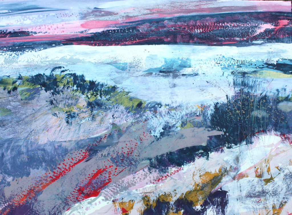 Tapestry Silkscreen Painting Gail Mason