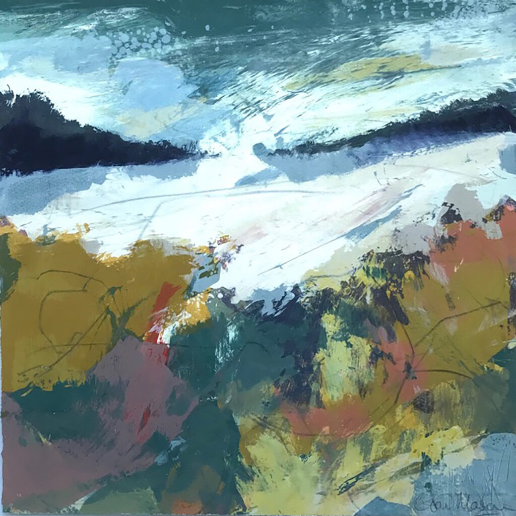 Open Space Silkscreen Painting Gail Mason