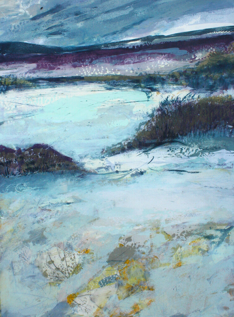 Ebb And Flow Silkscreen Painting Gail Mason