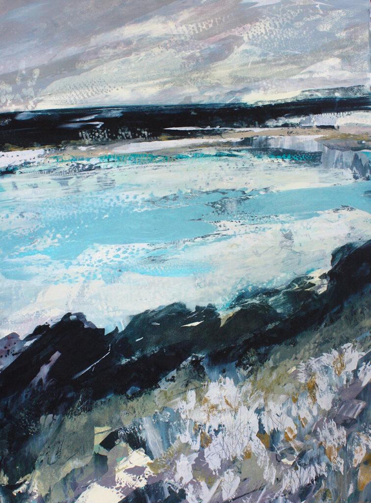 Sea Drift Silkscreen Painting Gail Mason