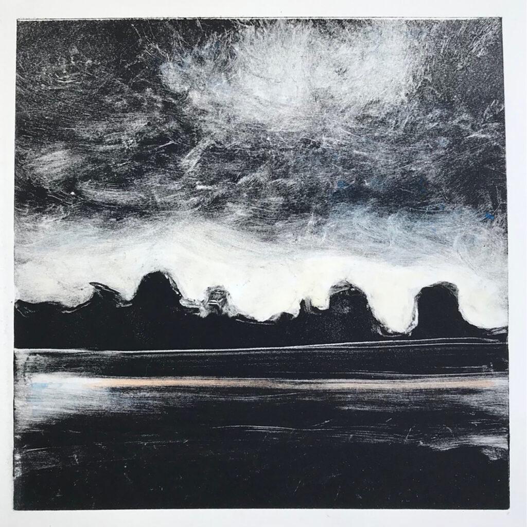 Sentinals Oil Monotype Gail Mason