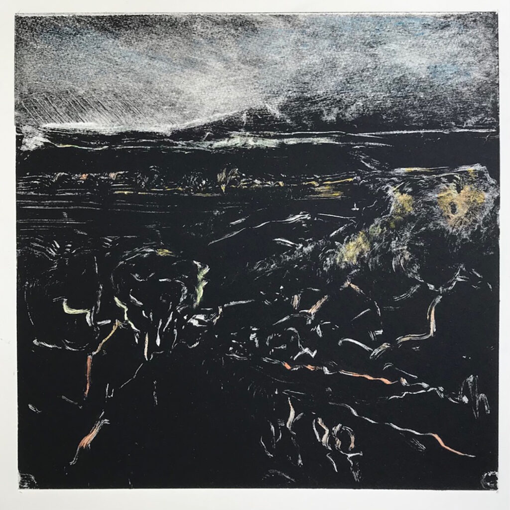 Darkness At My Feet Oil Monotype Gail Mason
