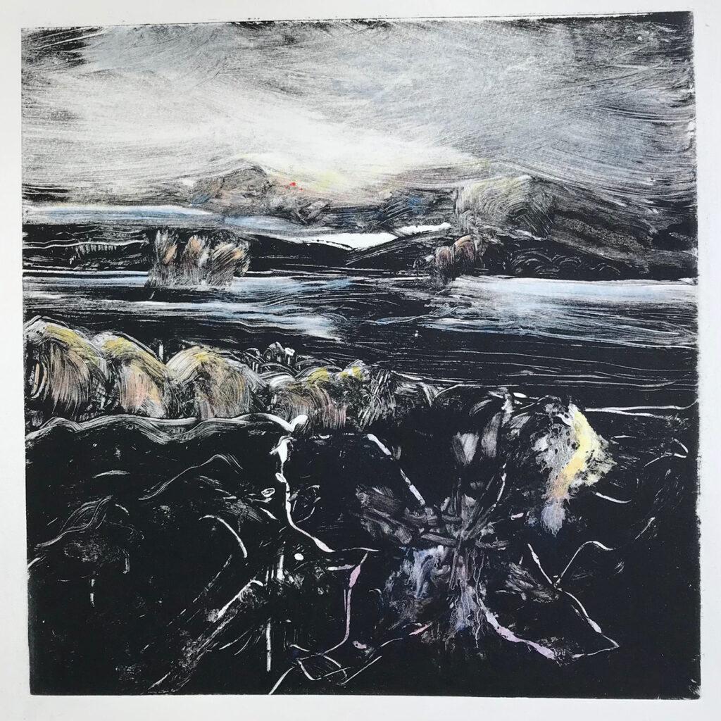 Bloom Oil Monotype Gail Mason